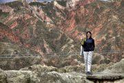 Nikki im Mondtal von La Paz, Bolivien.