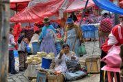 Armes Bolivien: Markststände in La Paz