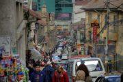 Chaos auf den Strassen von La Paz, Bolivien