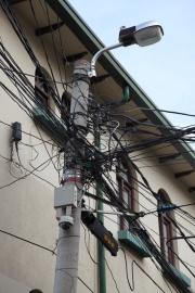 Stromkabel-Gewirr in La Paz, Hauptstadt von Bolivien