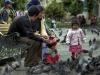 La Paz, Bolivien: friedliche Stimmung auf dem zentralen Platz