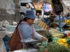 Marktfrau in La Paz, Bolivien