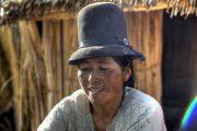 Typischer Hut der Anden