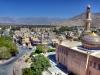 Blick auf die große Moschee von Nizwa, Oman
