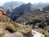 Blick auf die Hügel im Hadschar-Gebirge, Oman