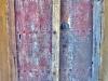 Uralte bunte Holztür im Bergdorf Al-Ain, Oman
