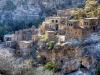 Teilweise zusammengefallene Ruinen in einem Hang, Oman