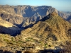 Rückblick: Erklommene Strassen, Gebirge Oman