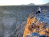 Blick über Plateau und tiefe Schlucht, Oman
