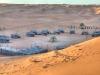 Blick über das Nomadic Desert Camp in der Wahiba Sands-Wüste im Oman