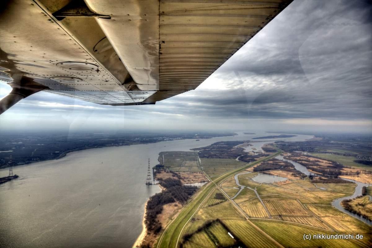 Pinch HItter Kurs: Flug über die Elbe von Uetersen-Heist