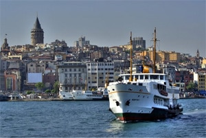 Istanbul - Blick auf den Bosporus.