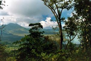Der Vulkan Gunung Batur und der Kratersee. Foto: www.nikkiundmichi.de