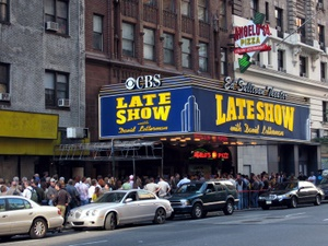Die Show von David Letterman in new York City. Foto: www.nikkiundmichi.de