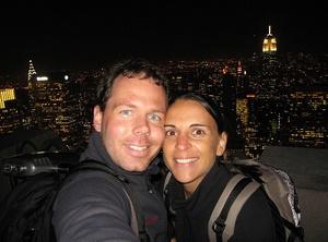 "Nikki&Michi auf dem Rockefeller Center - \""Top of the Rock\"". Foto: www.nikkiundmichi.de"
