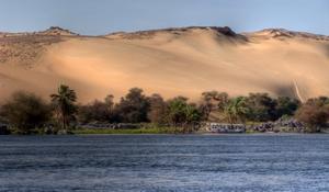 Bei Assuan: Naturschutzgebiet am ersten Katarakt bei Assuan. Foto: www.nikkiundmichi.de