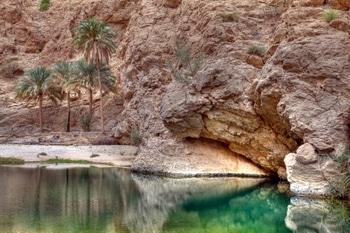 Wadi Shab: Das Tal Wadi Shab wurde durch den Zyklon Gonu nahezu zerstört.