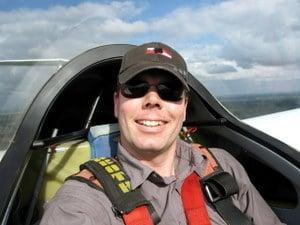 Michael Dunker in der SK 21 beim Segelkunstflug.