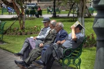 Anden-Luft macht müde: Rast im Herzen von Cusco, Peru.