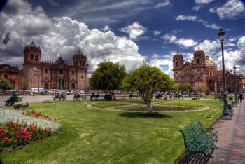 Der Marktplatz von Cusco, Peru.