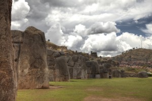 Sacsayhuamán: die alte Tempelanlage der Inka liegt in der Nähe von Cusco, Peru.