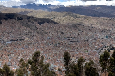 La Paz in Bolivien, Panorama.
