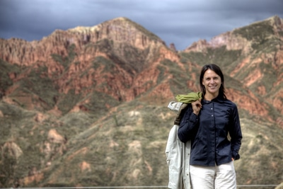 Nikki im Mondtal von La Paz, Bolivien