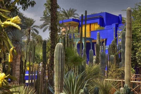 Der Prachtgarten Jardin Majorelle in Marrakesch.