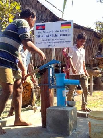 Brunnenbau Kambodscha Nikki und Michi