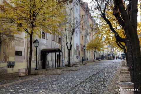 Die Strasse Skadarlija in Belgrad. Hier essen abends vor allem touristen in traditionellen Restaurants.