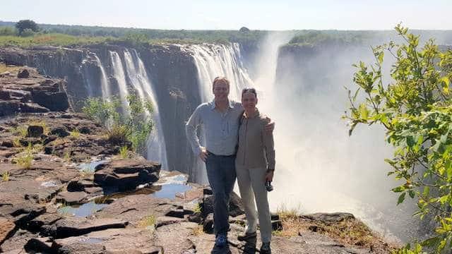 Victoria Wasserfälle Sambia Nikki und Michi