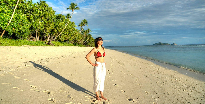 silhouette Island Morning Beach Walk nikki