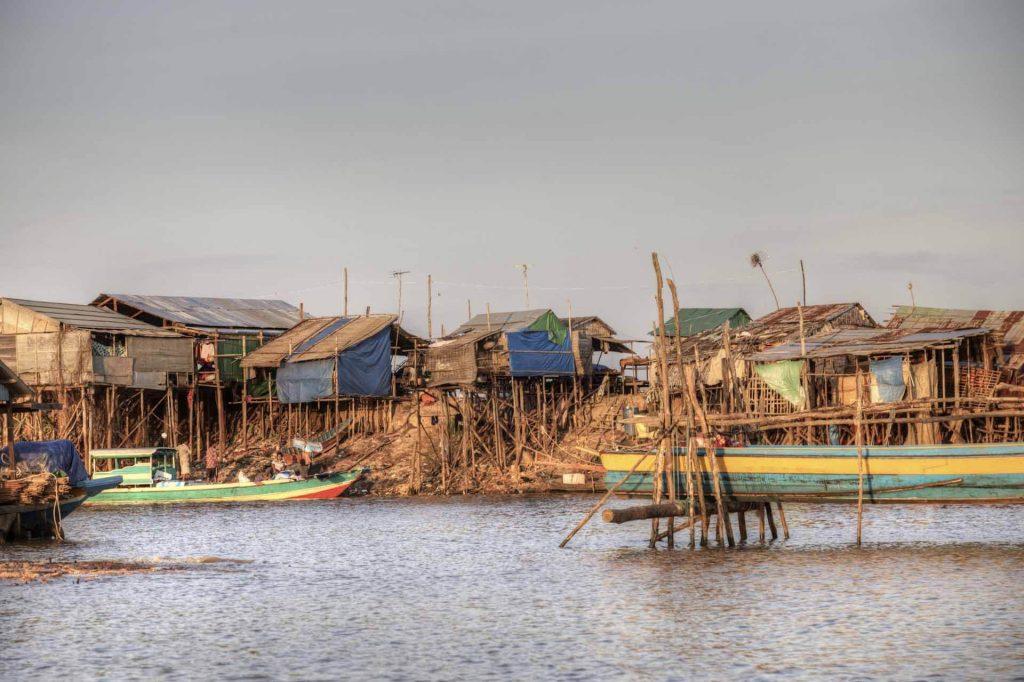 Kambodscha gehört zu den ärmsten Ländern der Erde. Hier am Tonle-Sap-See bekommen Besucher unmittelbar eine Ahnung davon.