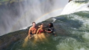 Devils Pool Nikki und Michi Victoria Wasserfälle
