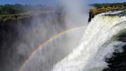 Victoria Wasserfälle Regenbogen Sambia