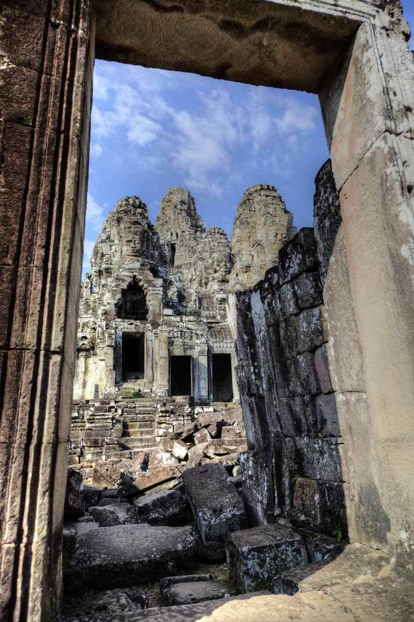 Ansicht durch einen Torbogen - Angkor Thom
