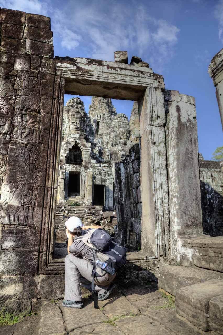 Nikki fotografiert in Angkor