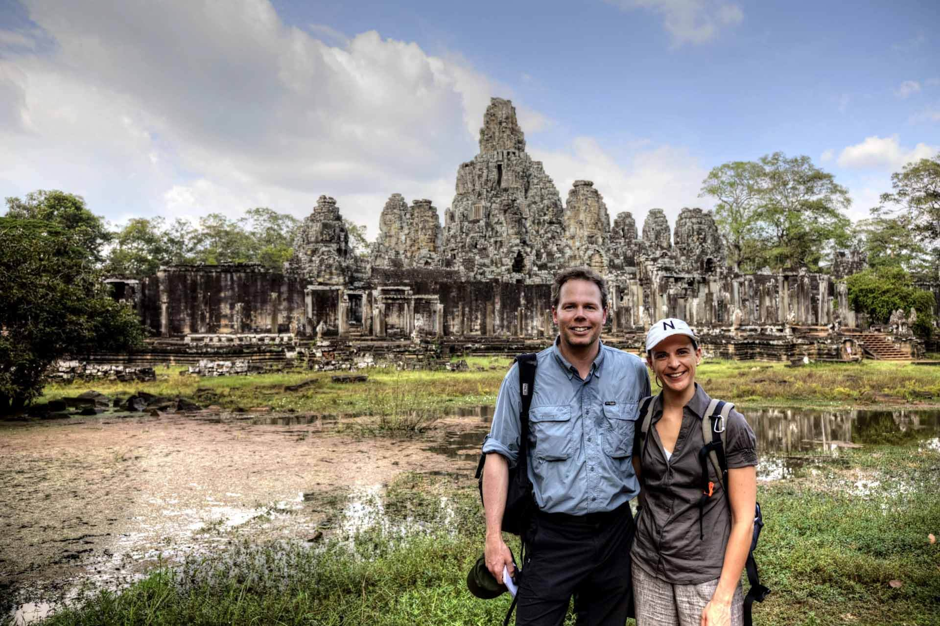 Nikki & Michi in Angkor Thom
