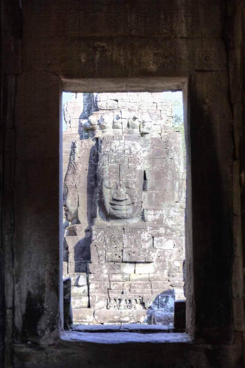 Gesicht des Bodhisattva am Bayon Tempel, Angkor