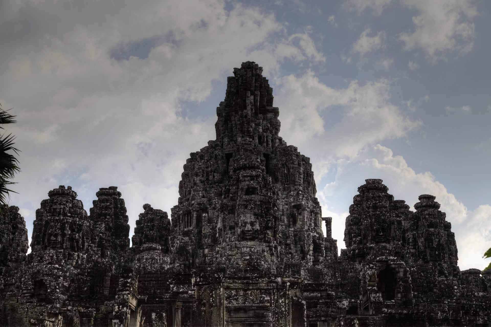 Die Türme des Bayon Tempel in Angkor Thom
