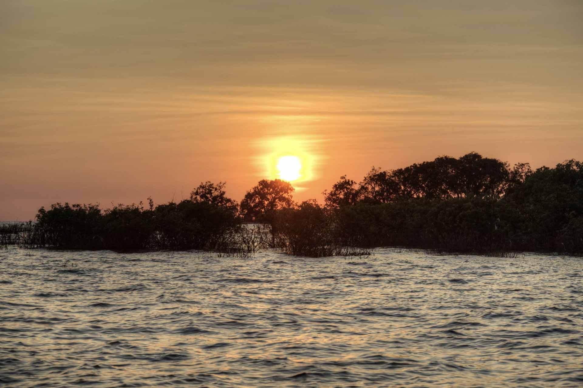 Tonle-Sap-See in Kambodscha