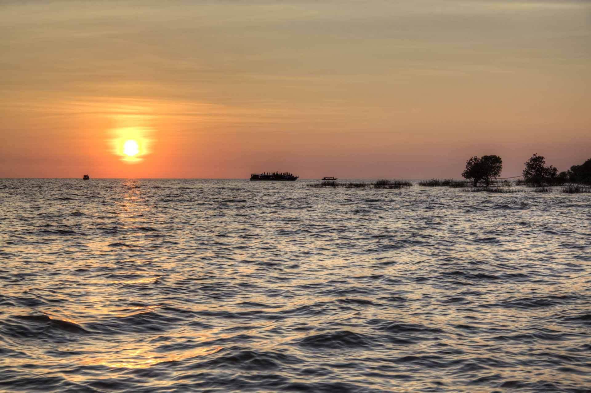 Tonle-Sap-See in Kambodscha, Region Siem Reap