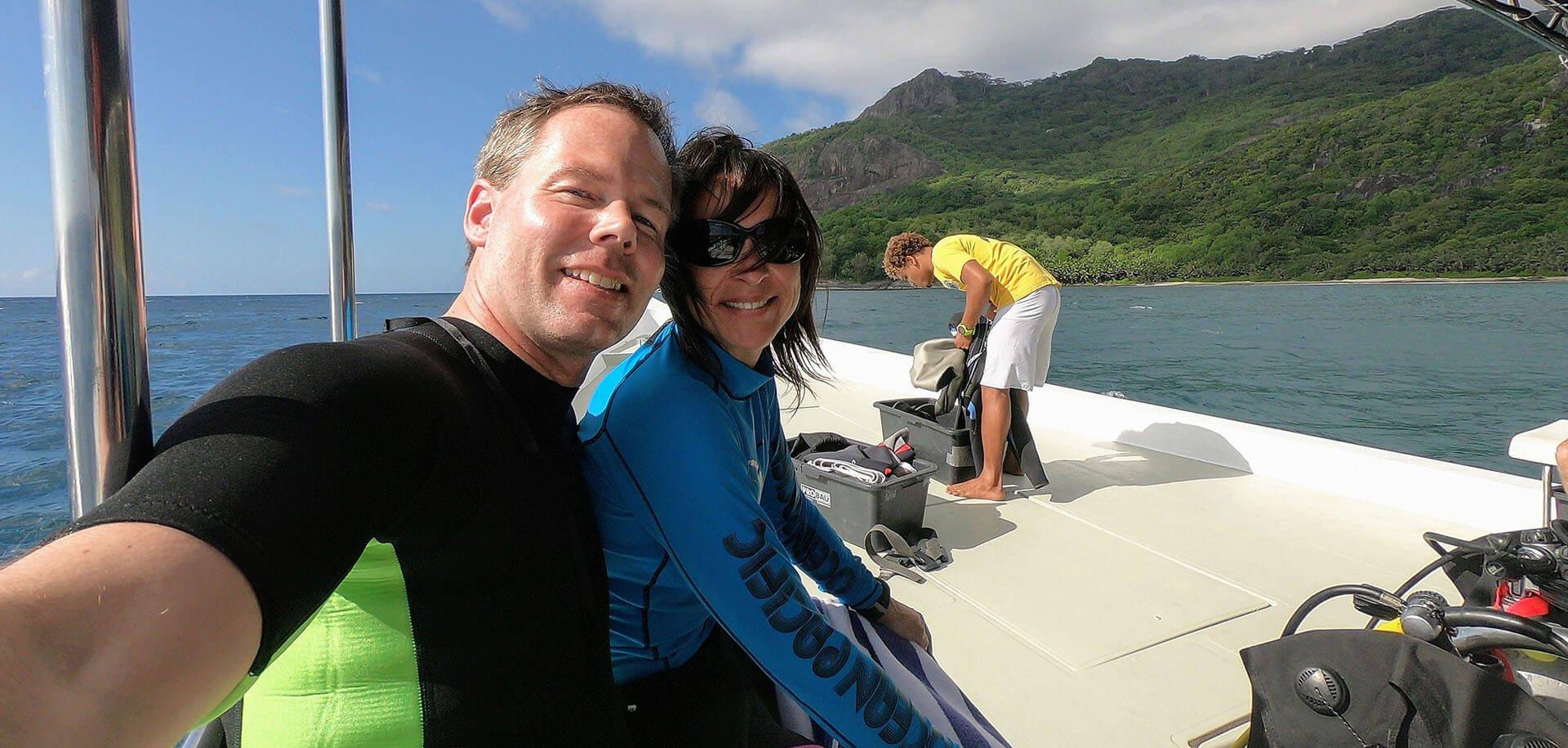Tauchen Silhouette Island Seychellen